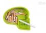 Popelník ve tvaru lebky zelený